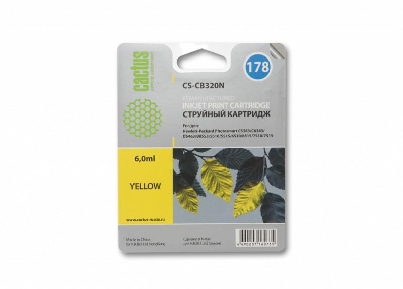 Картридж CACTUS CS-CB320N(CS-CB320) желтый
