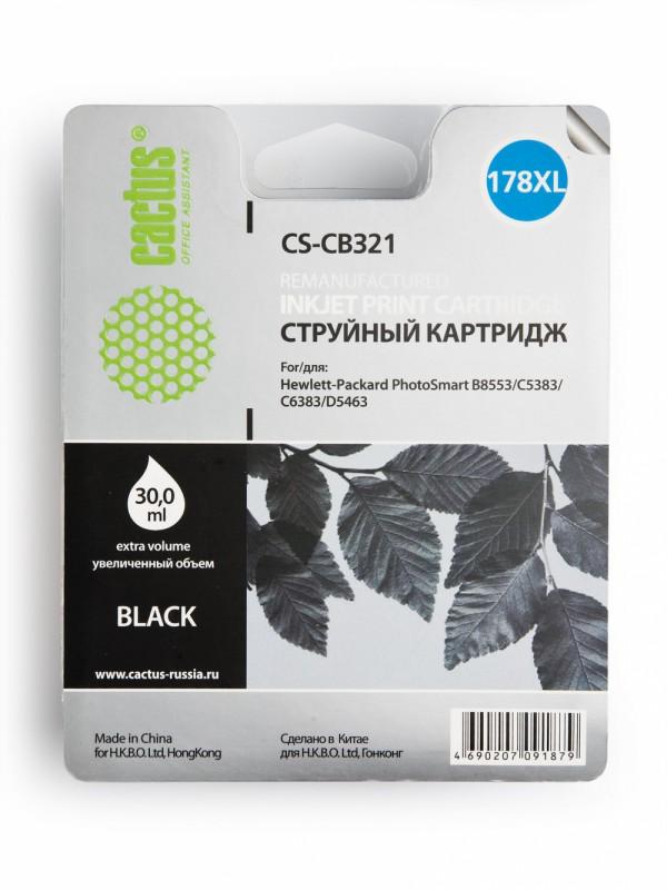 Картридж CACTUS CS-CB321 черный
