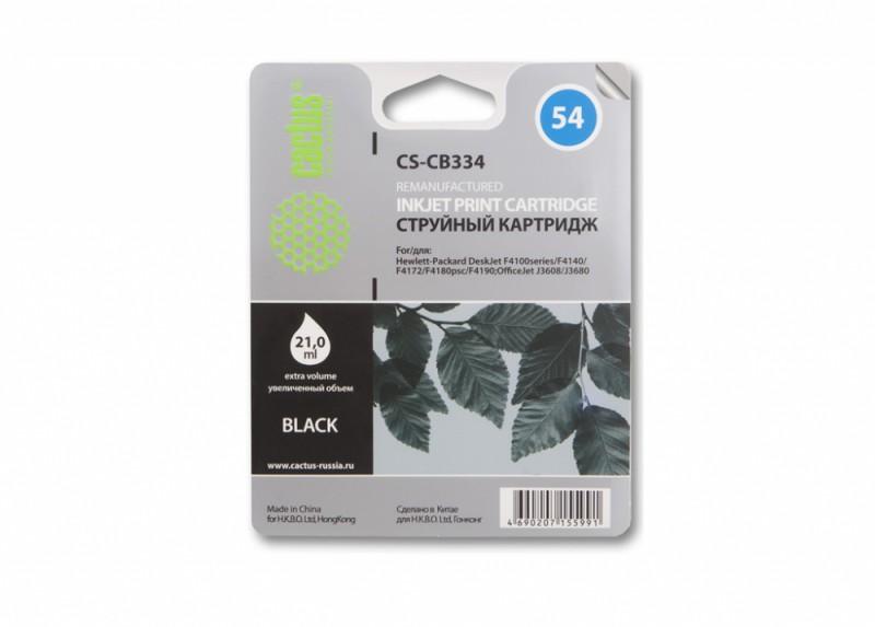 Картридж CACTUS CS-CB334 №54,  черный