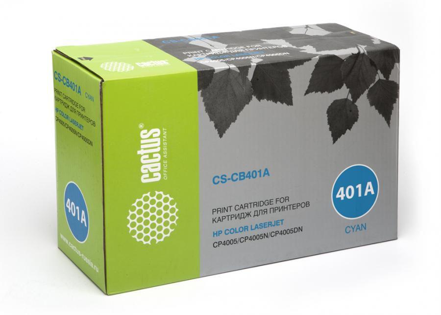 Картридж CACTUS CS-CB401A голубой