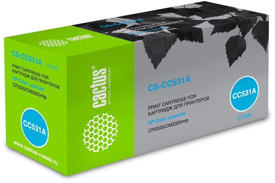 Картридж CACTUS CS-CC531A голубой