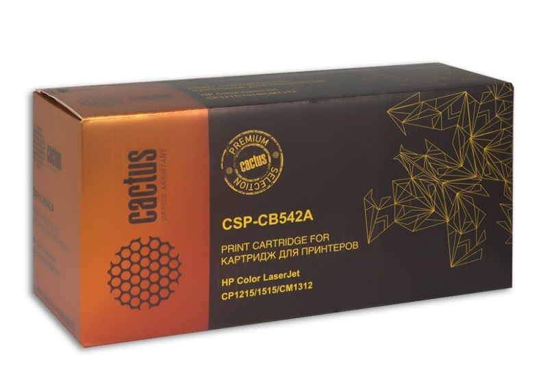 Картридж CACTUS CSP-CB542A желтый