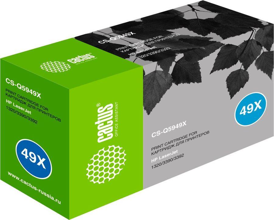 Картридж Cactus CS-Q5949X для принтеров HP Laser Jet 1320/ 3390 /3392. 6000 стр. (плохая упаковка)