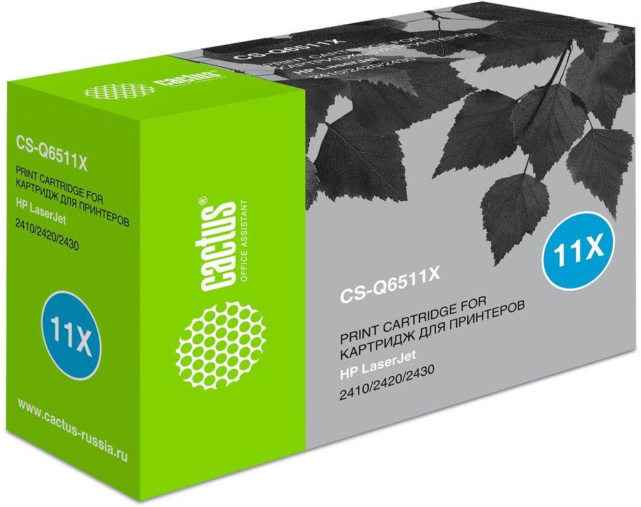 Картридж CACTUS CS-Q6511X черный