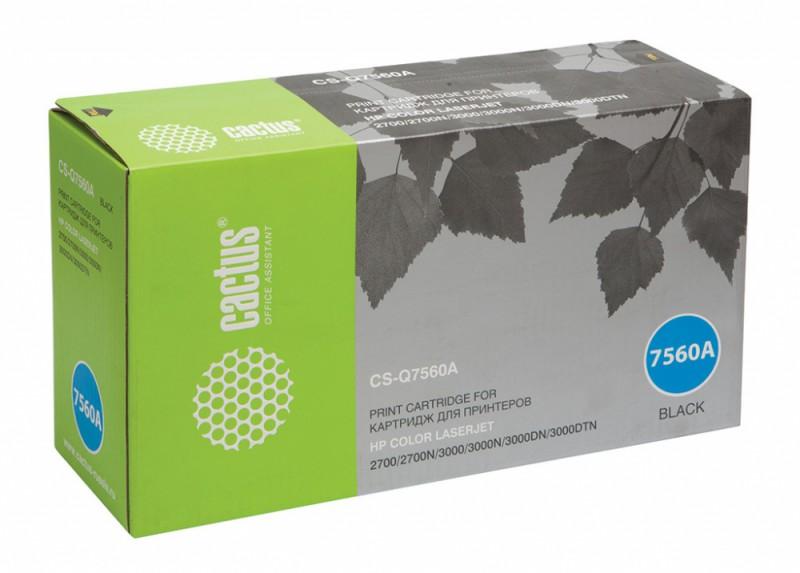Картридж CACTUS CS-Q7560A черный