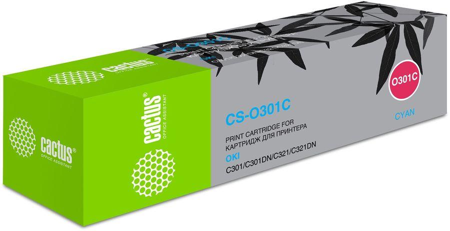 Картридж CACTUS CS-O301C голубой
