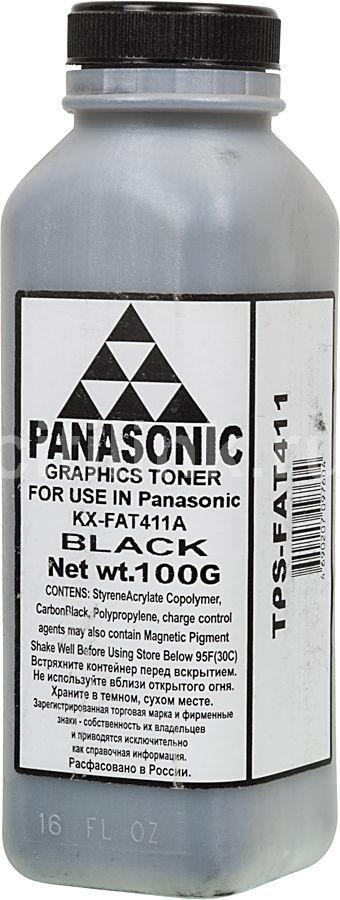 Тонер AQC для KX-FAT411A,  черный, 100грамм, флакон