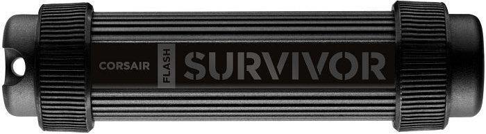 Флешка USB CORSAIR Survivor Stealth 128Гб, USB3.0, черный [cmfss3-128gb/cmfss3b-128gb]