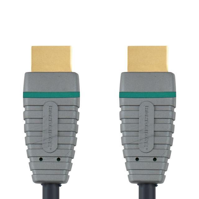 Кабель аудио-видео BANDRIDGE BVL1201,  HDMI (m)  -  HDMI (m) ,  1м, GOLD серый
