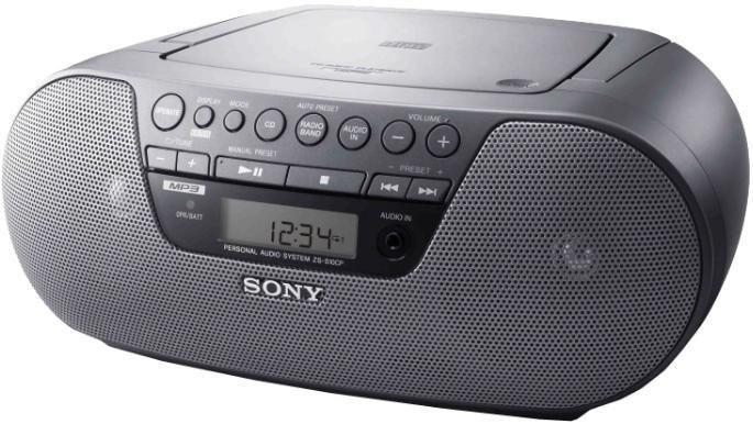 Аудиомагнитола SONY ZS-S10CP,  черный