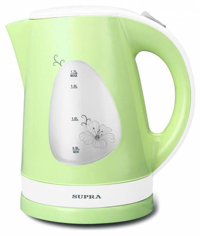 Чайник электрический SUPRA KES-1708, 2200Вт, белый и фисташковый