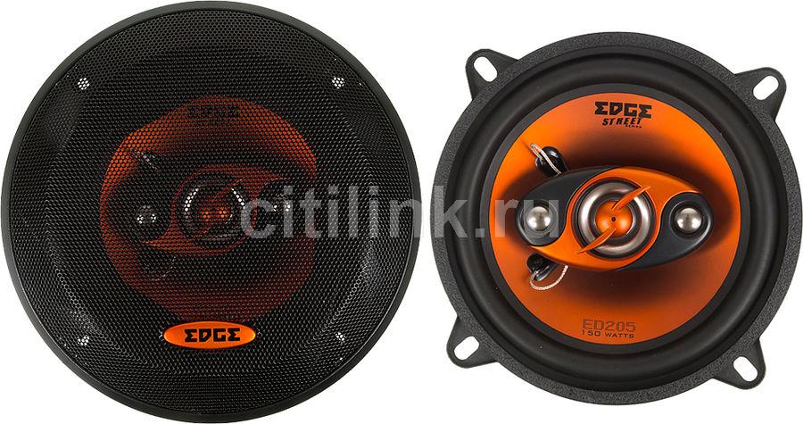 Колонки автомобильные EDGE ED205-E1,  коаксиальные,  150Вт