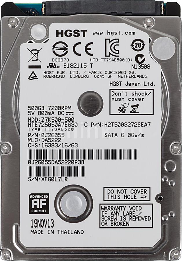 Жесткий диск HITACHI Travelstar Z7K500 HTE725050A7E630,  500Гб,  HDD,  SATA III,  2.5