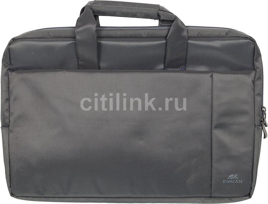 "Сумка для ноутбука 17"" RIVA 8251, серый"