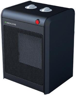 Тепловентилятор NEOCLIMA KRP-3,  1.8Вт,  черный