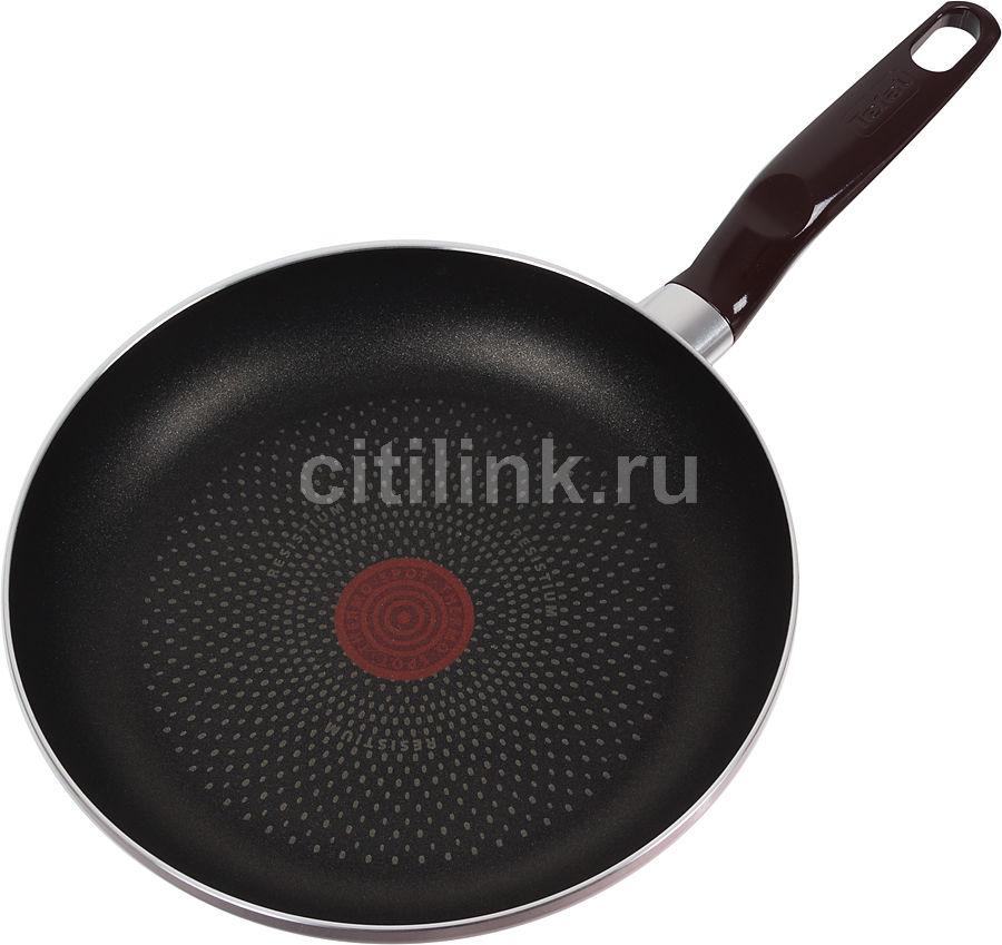 Сковорода TEFAL Boost A3730452, 240см, без крышки,  бордовый [2100077028]