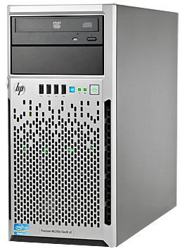 Сервер HP ProLiant ML310e Gen8 v2 1xE3-1220v3 1x4Gb LFF SATA RW 1x350W 1-1-1 (712329-421)