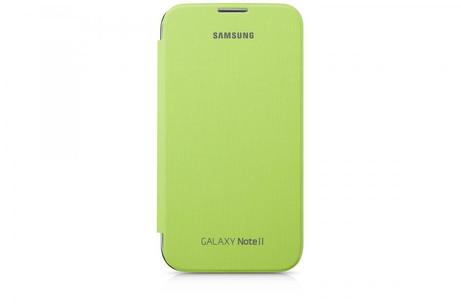 Чехол (флип-кейс) SAMSUNG EFC-1J9FLEG, для Samsung Note II, зеленый [efc-1j9flegser]
