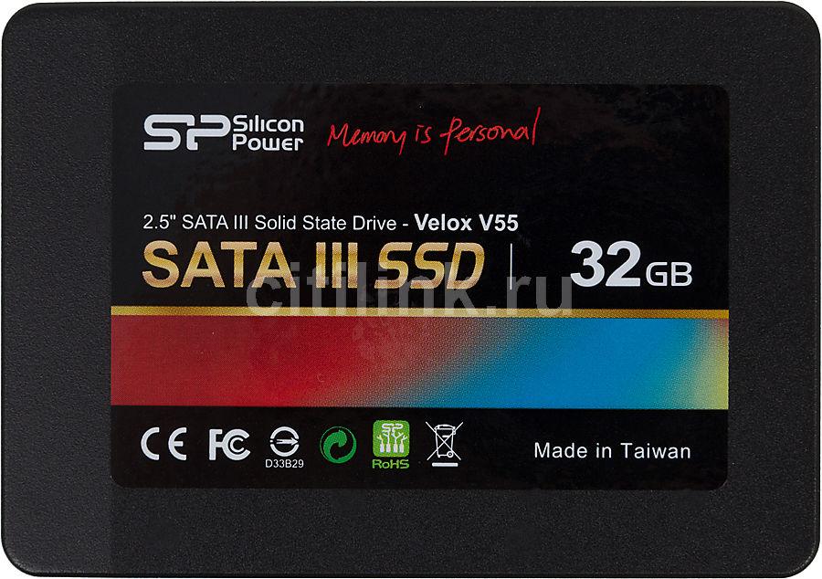 Накопитель SSD SILICON POWER Velox V55 SP032GBSS3V55S25 32Гб, 2.5