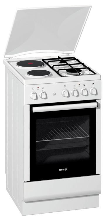Газовая плита GORENJE KN52160AW,  газовая духовка,  белый