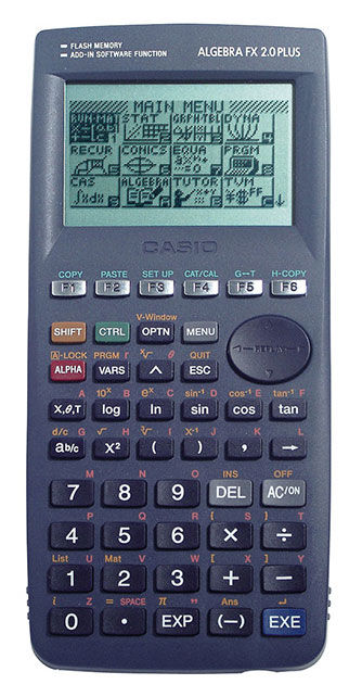 Калькулятор CASIO Algebra FX 2.0 Plus,  10+2-разрядный, темно-серый