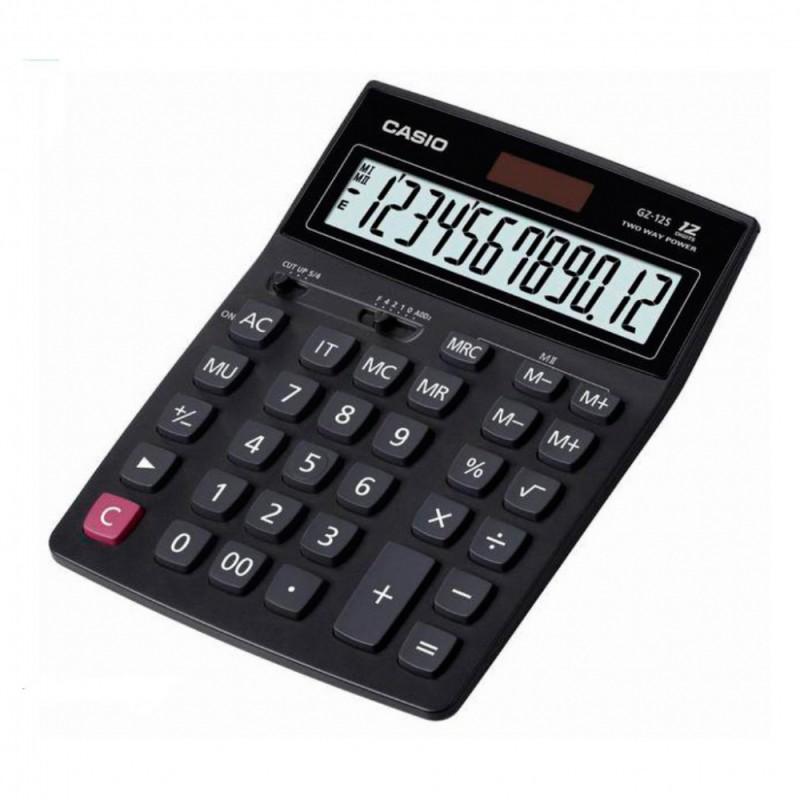 Калькулятор CASIO GZ-12S,  12-разрядный, черный