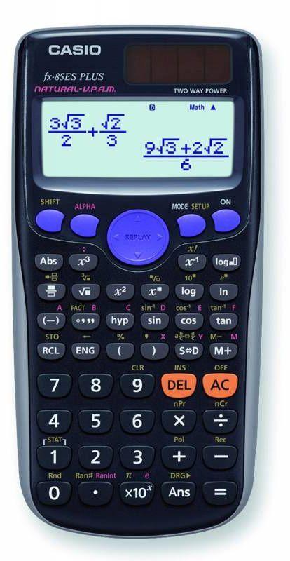 Калькулятор CASIO FX-85ES PLUS,  12-разрядный, черный