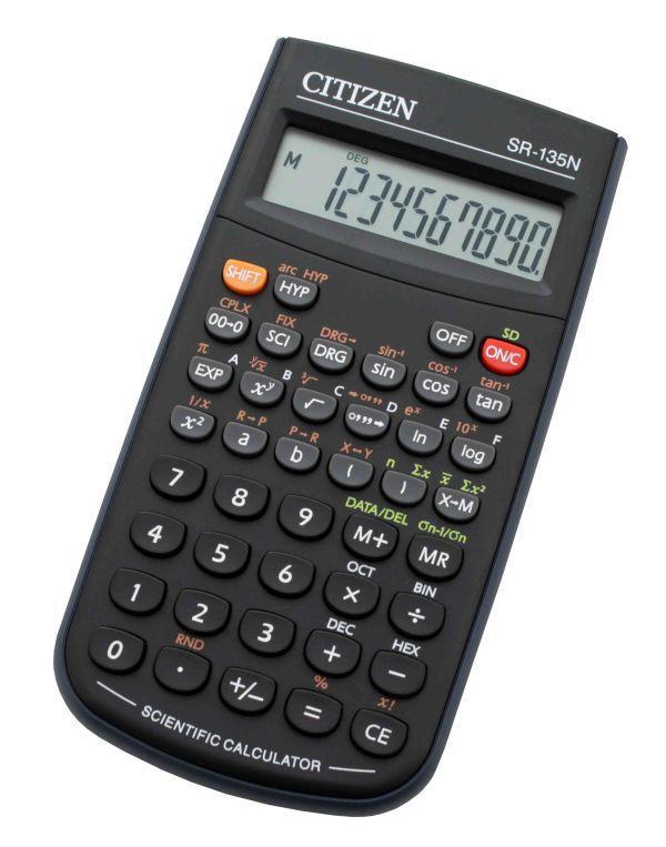 Калькулятор CITIZEN SR-135N,  8-разрядный, черный