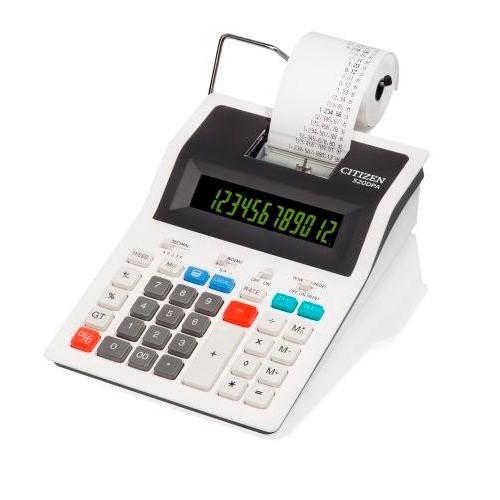 Калькулятор CITIZEN 520DPA,  12-разрядный, белый