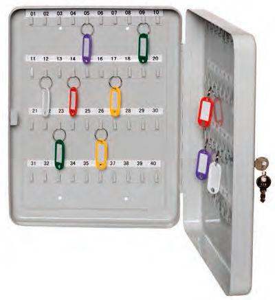 Шкафчик для ключей Alco 892-33 на 40ключ. 200x160x80мм серый сталь