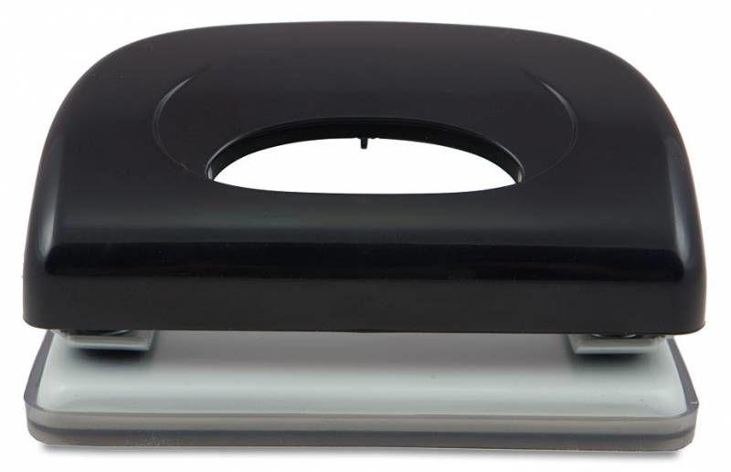 Дырокол Kw-Trio Dolphin 091X9BLACK макс.:10лист. пластик черный с линейкой