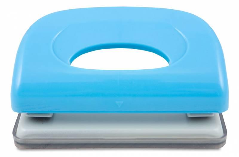 Дырокол Kw-Trio Dolphin 091X9BLUE макс.:10лист. пластик голубой отв.:2 с линейкой