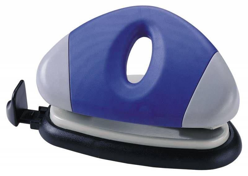 Дырокол Kw-Trio UFO Mini 90EO макс.:10лист. металл/пластик ассорти с линейкой