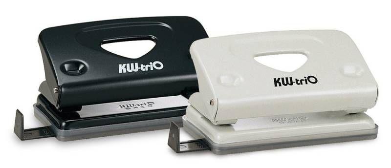 Дырокол Kw-Trio Classic Mini 941 макс.:10лист. металл ассорти с линейкой