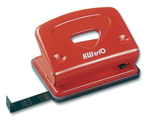 Дырокол Kw-Trio Classic Medium 942 макс.:16лист. металл ассорти с линейкой