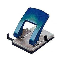 Дырокол Kw-Trio Stylish Heavy Duty 976GR/BLU макс.:40лист. металл синий/серый отв.:2 с линейкой