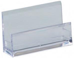 Подставка Alco 4456 для визиток 103х60х30мм прозрачный акрил картонная коробка