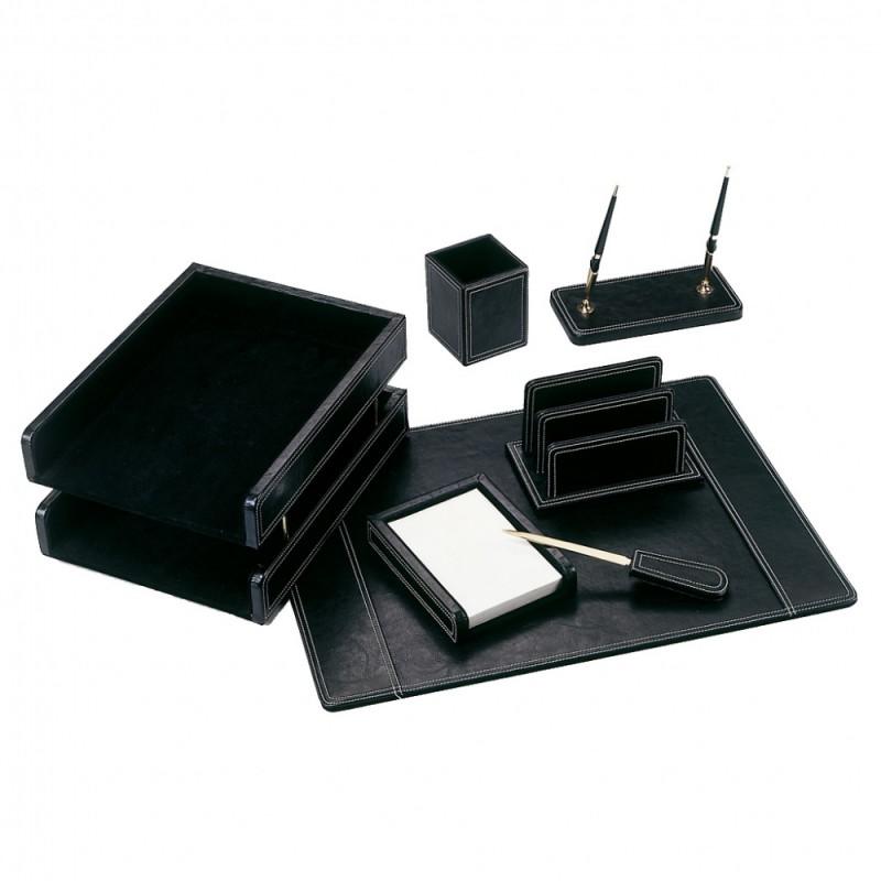 Настольный набор GOOD SUNRISE BK7W-1A, кожзам/МДФ, 7 предметов, черный