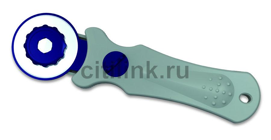 Нож роликовый Kw-Trio 3803 диам.лез.45мм металл серый/синий блистер