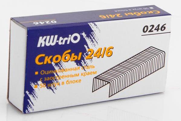 Скобы для степлера KW-TRIO 0246,  24/6,  картонная коробка
