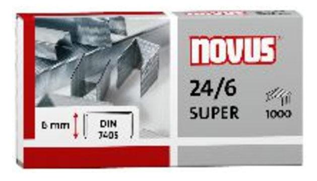 Скобы для степлера NOVUS 040-0026 DIN super,  24/6,  картонная коробка