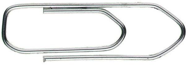 Скрепки Alco 262 никелированные рифленый 77мм (упак.:100шт) картонная коробка
