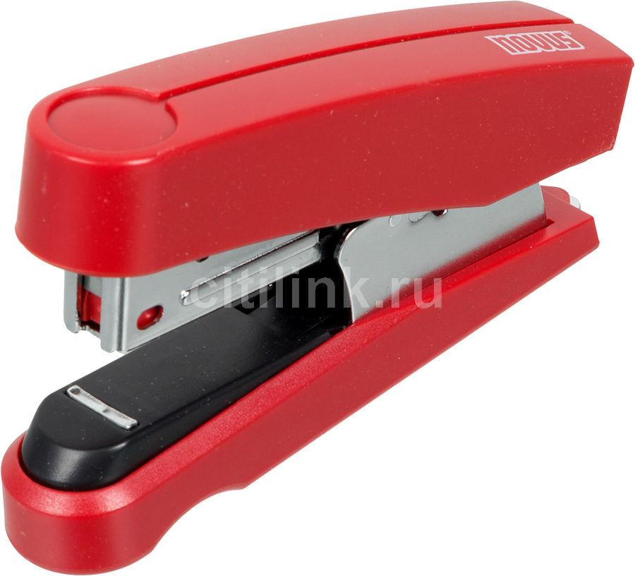 Степлер настольный Novus 020-2204 B10FC N10 (20листов) встроенный антистеплер красный 100скоб металл