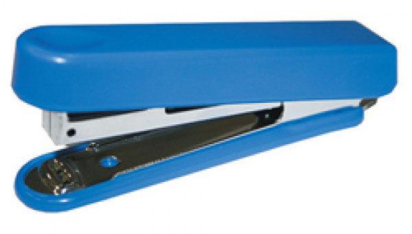 Степлер Kw-Trio 5101BLUE N10 (10листов) встроенный антистеплер синий 50скоб металл/пластик