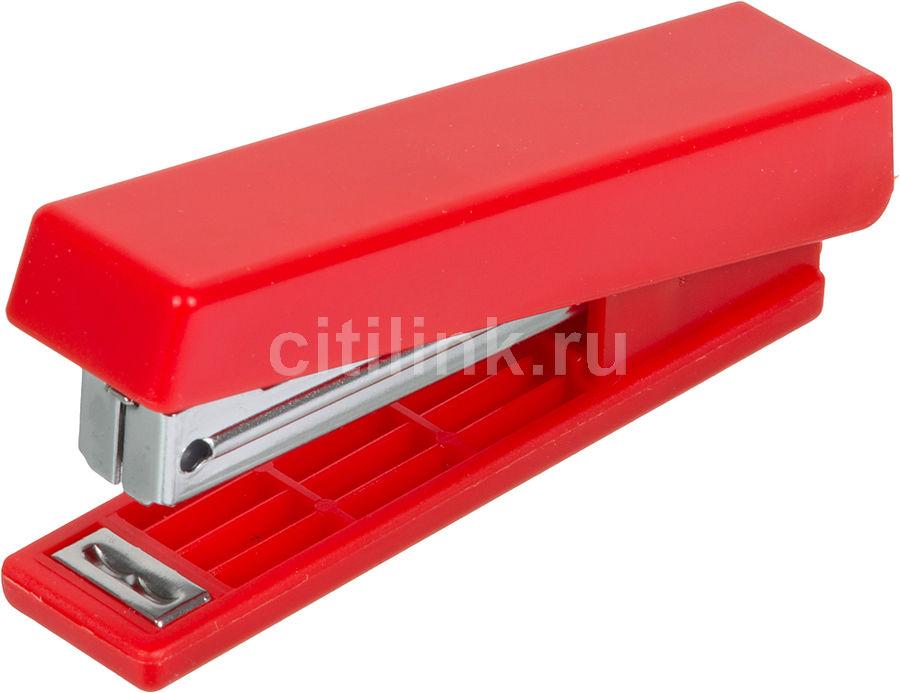 Степлер Kw-Trio 5280RED N10 (10листов) встроенный антистеплер красный 50скоб