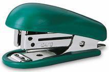 Степлер Kw-Trio 5512GRN Mini 24/6 26/6 (15листов) встроенный антистеплер зеленый 50скоб блистер