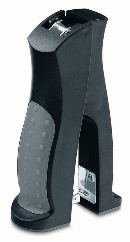 Степлер Kw-Trio 5533BLK Half-strip Elegant 24/6 (20листов) черный 150скоб блистер