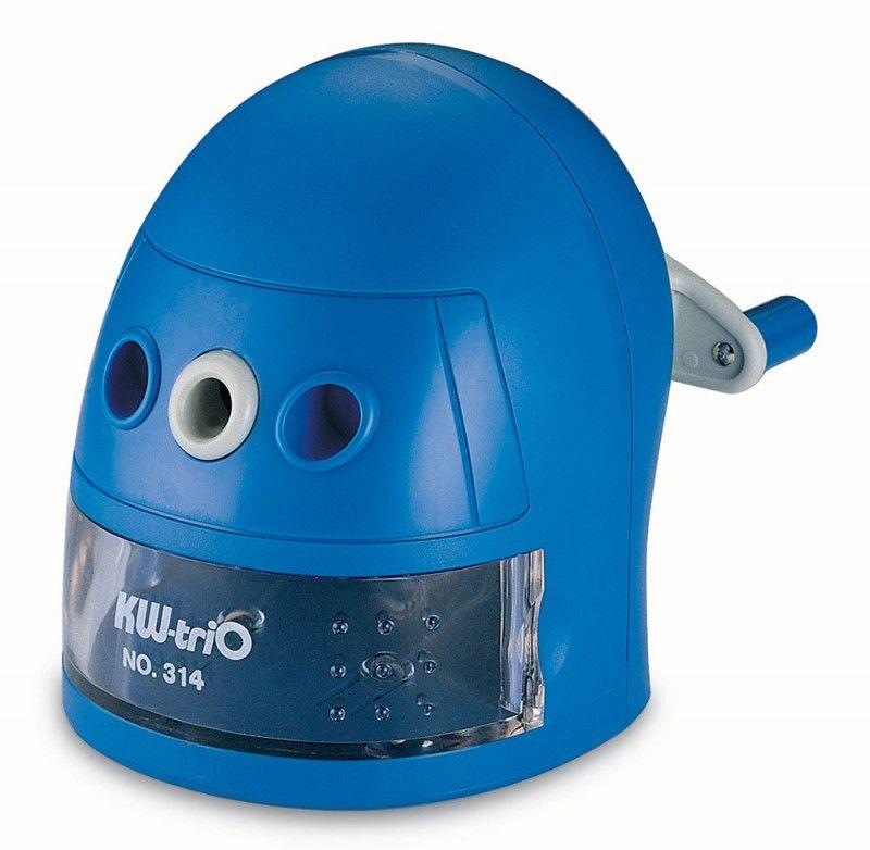 Точилка для карандашей KW-TRIO 314Ablu Робот  механическая,  синий [314a-blu]