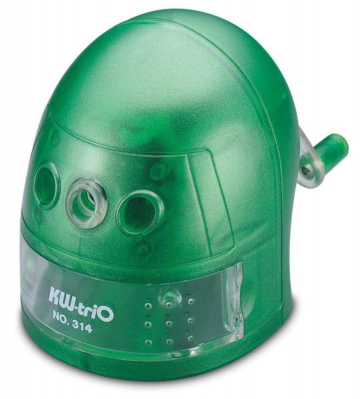 Точилка для карандашей KW-TRIO 314Agrn Робот  механическая,  зеленый [314a-grn]