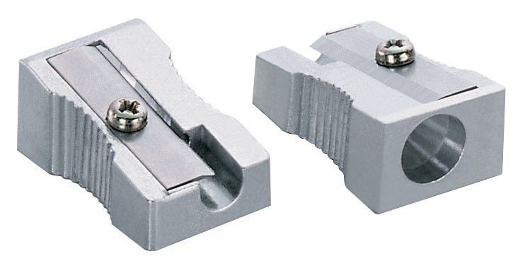 Точилка для карандашей KW-TRIO 3402 mini  ручная,  серебристый